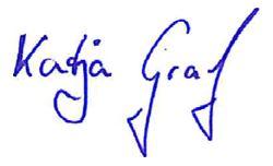 Unterschrift Katja Graf